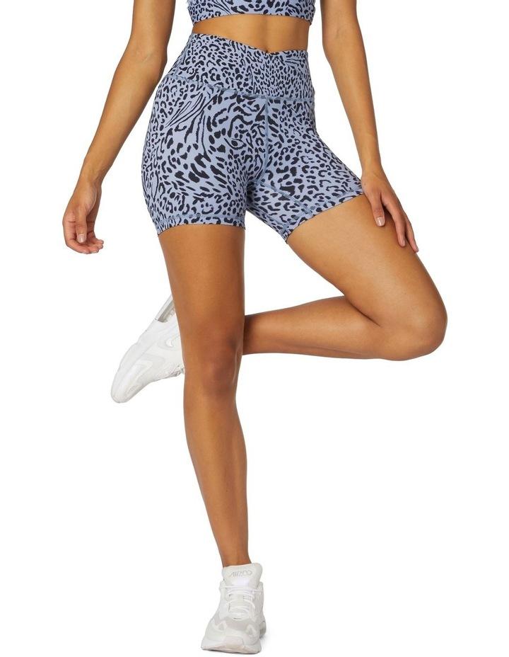 Shadows Yoga High-Waisted Shorts Blue image 1