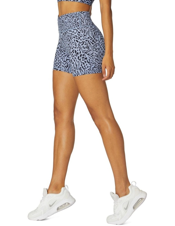 Shadows Yoga High-Waisted Shorts Blue image 2