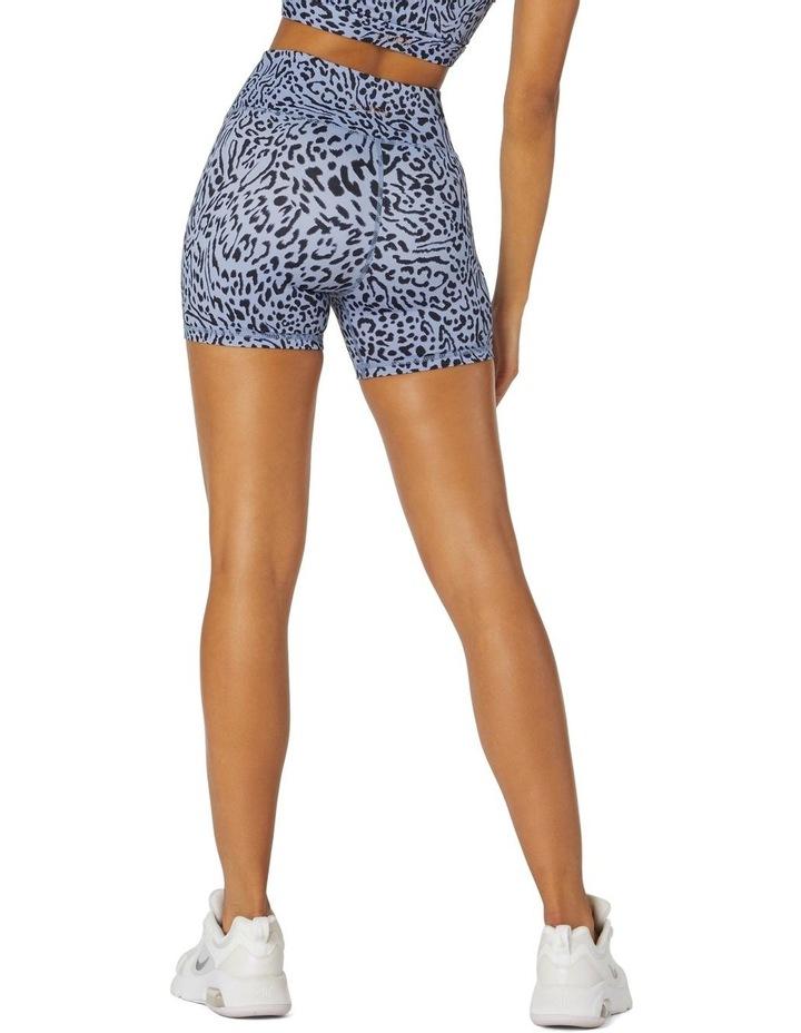 Shadows Yoga High-Waisted Shorts Blue image 3