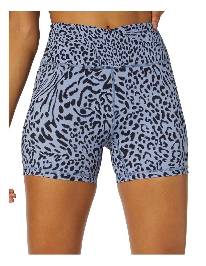 Shadows Yoga High-Waisted Shorts Blue image 4
