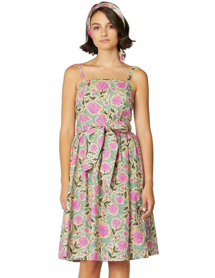 Pom Pom Flower Strap Dress image 1