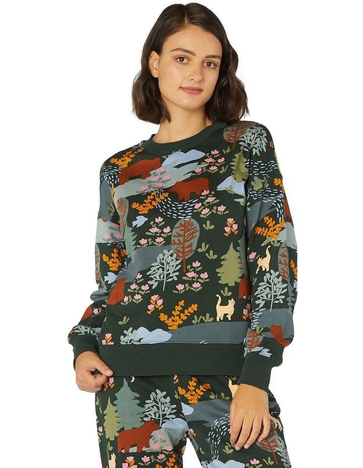 Woodland Bear Crew Sweater image 1