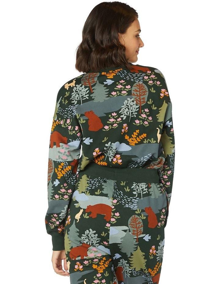 Woodland Bear Crew Sweater image 3