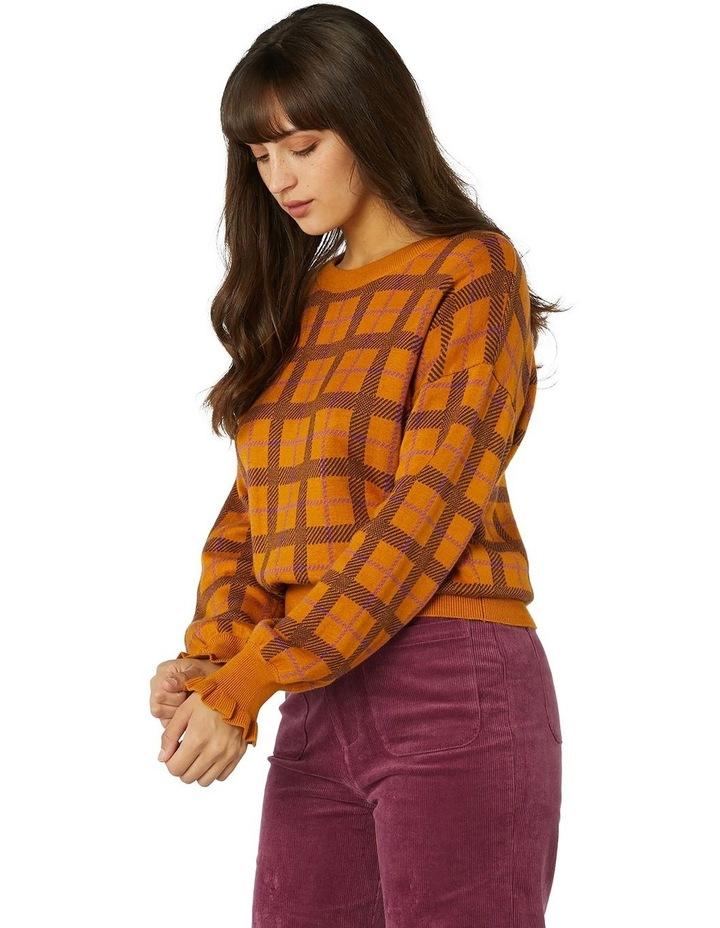 Claudia Check Sweater image 2