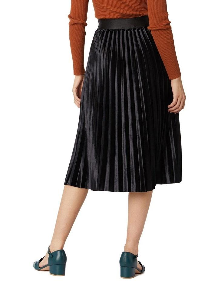 Velvet Pleated Skirt image 3