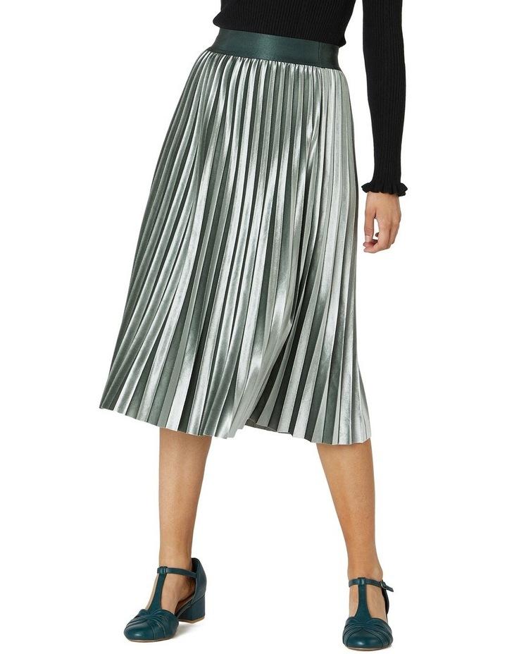Velvet Pleated Skirt image 1