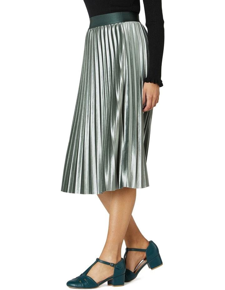 Velvet Pleated Skirt image 2