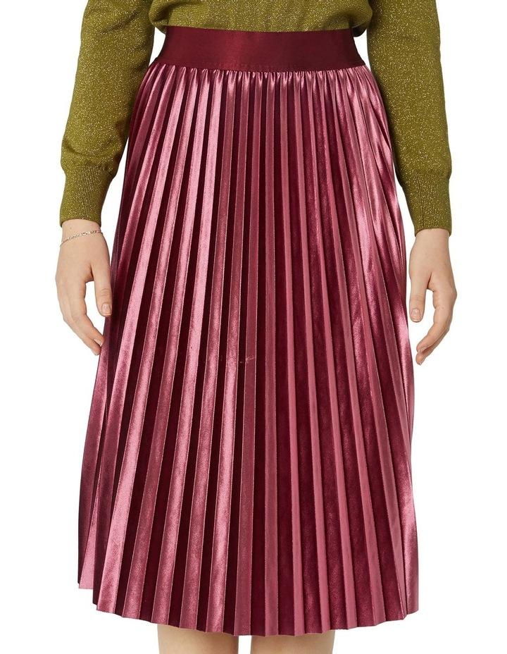 Velvet Pleated Skirt image 4