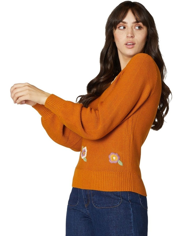 Flower Embroidered Sweater image 2