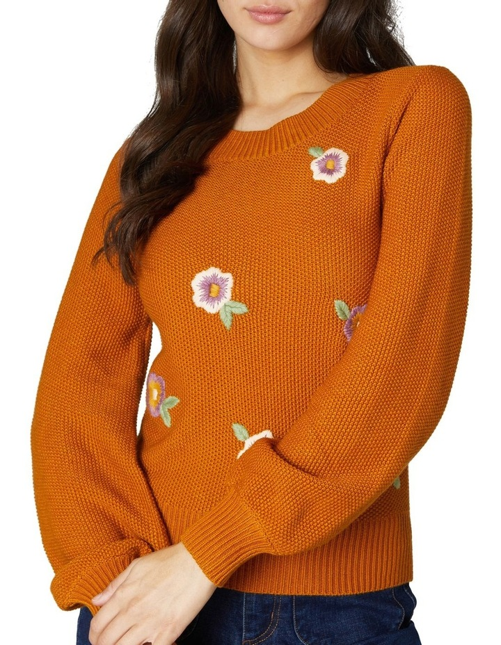 Flower Embroidered Sweater image 4