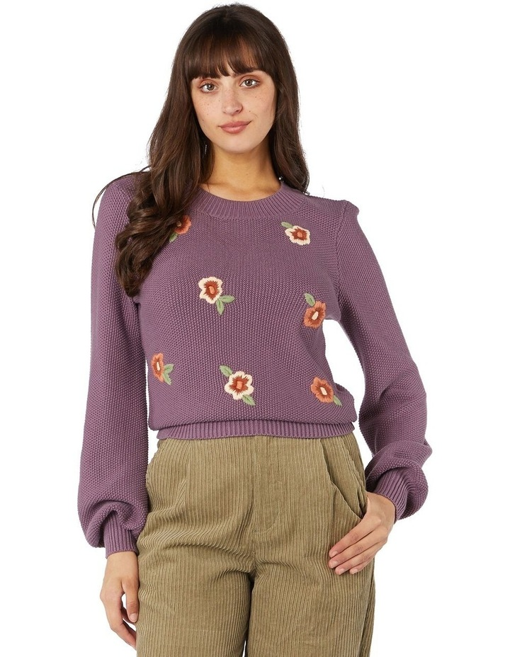 Flower Embroidered Sweater image 1
