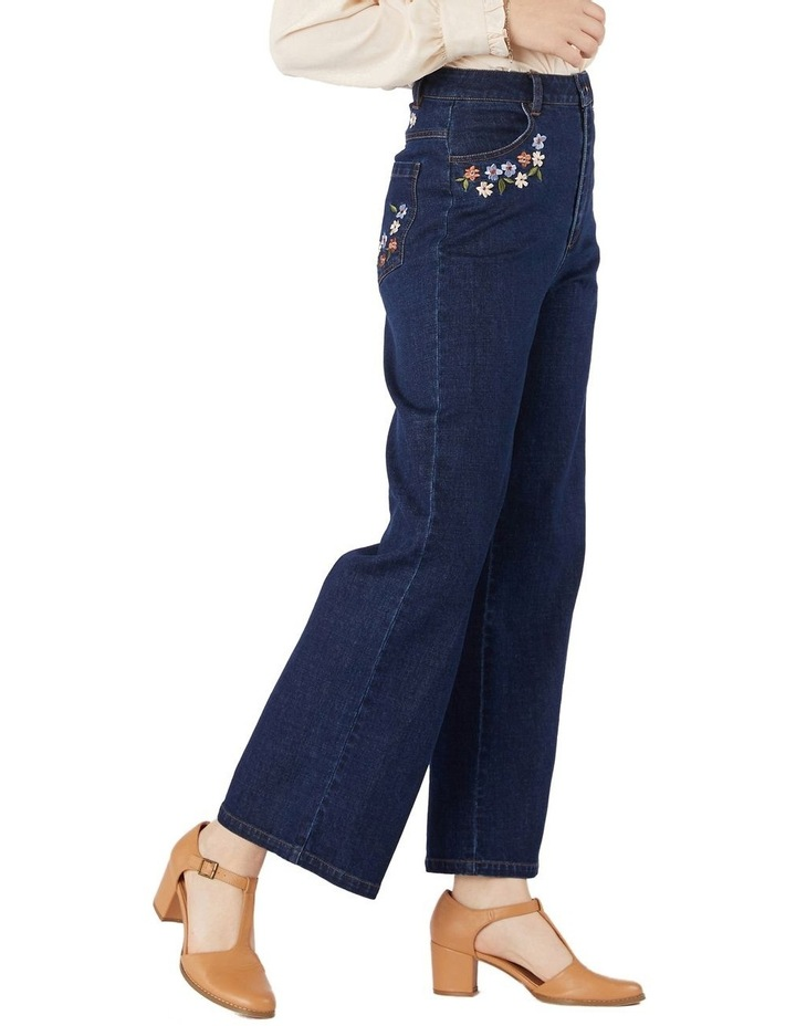 Flower Embroidered Jeans image 2