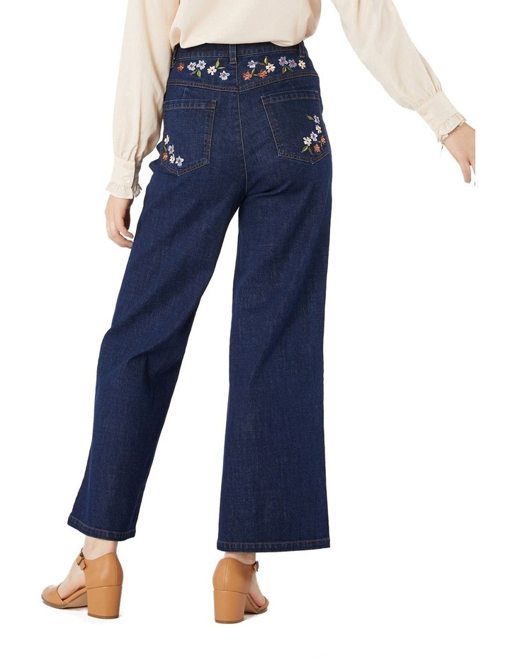 Flower Embroidered Jeans image 3