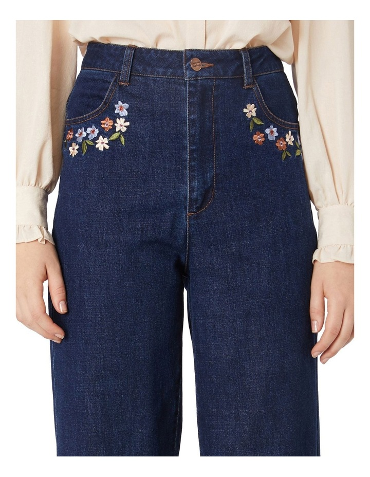 Flower Embroidered Jeans image 4