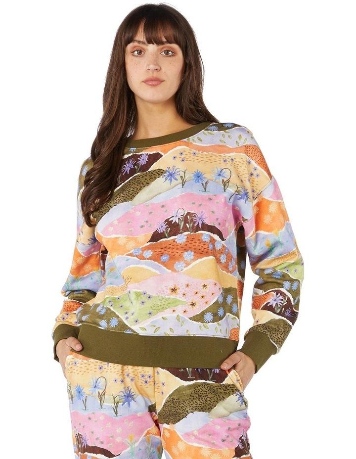 Daisy Landscape Fleece Sweater image 1