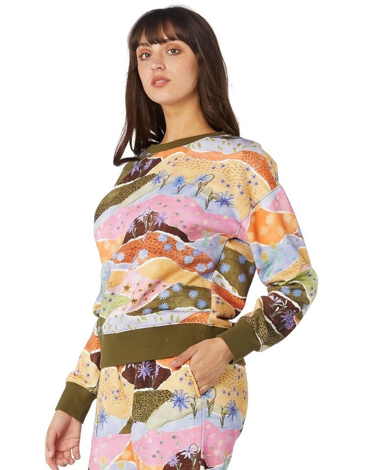 Daisy Landscape Fleece Sweater image 2