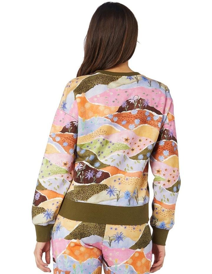 Daisy Landscape Fleece Sweater image 3