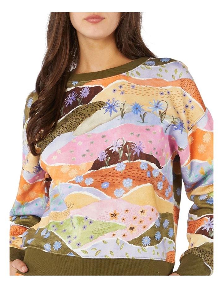 Daisy Landscape Fleece Sweater image 4