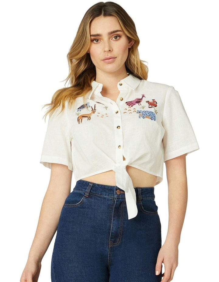 Animals Galore Embroidered Blouse image 1