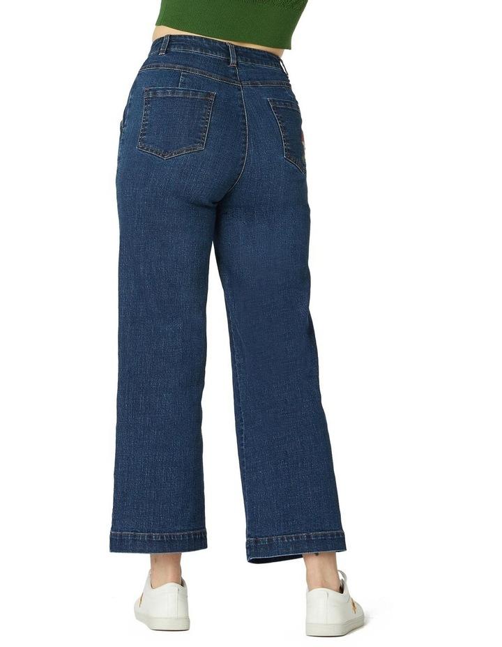 Mushroom Embroidered Jeans image 3
