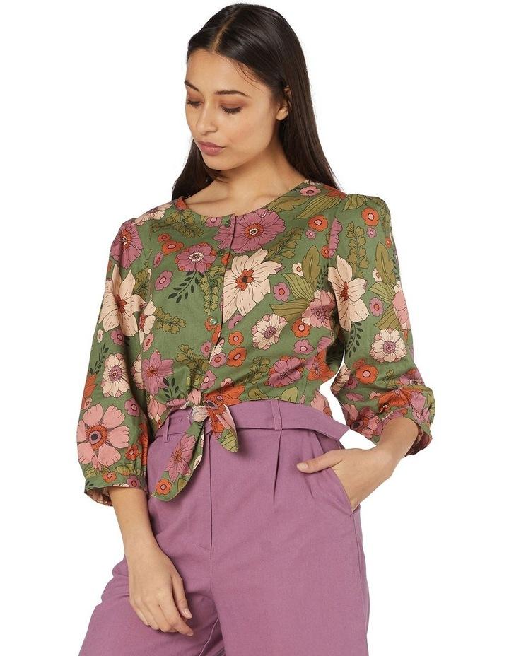 Brandy Floral Tie Blouse image 1