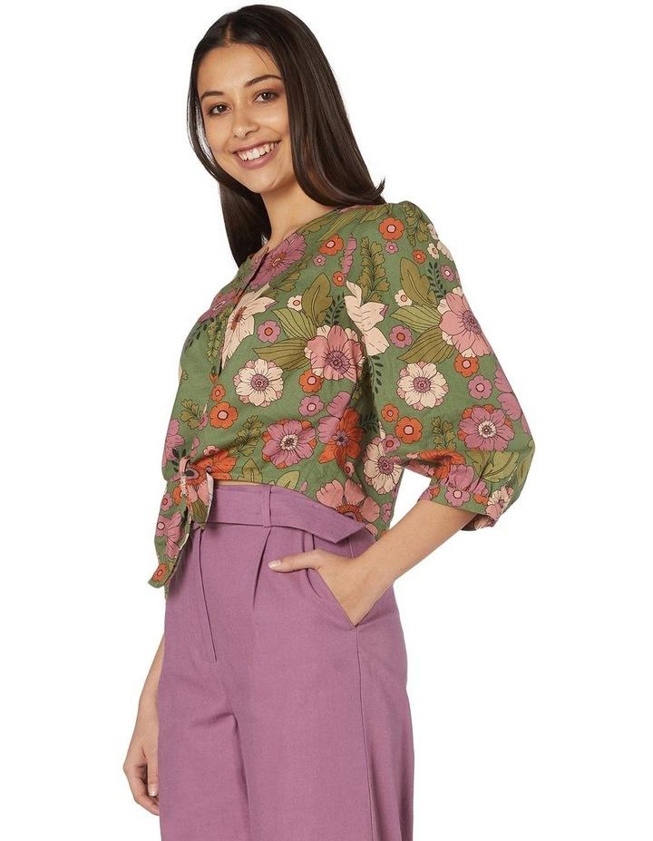 Brandy Floral Tie Blouse image 2