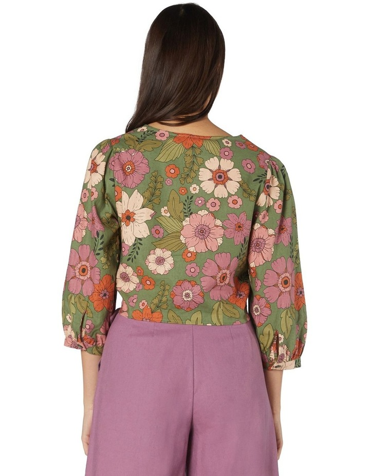 Brandy Floral Tie Blouse image 3