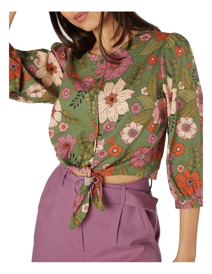 Brandy Floral Tie Blouse image 4