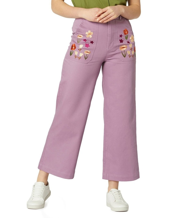 Enid Embroidered Pants image 1