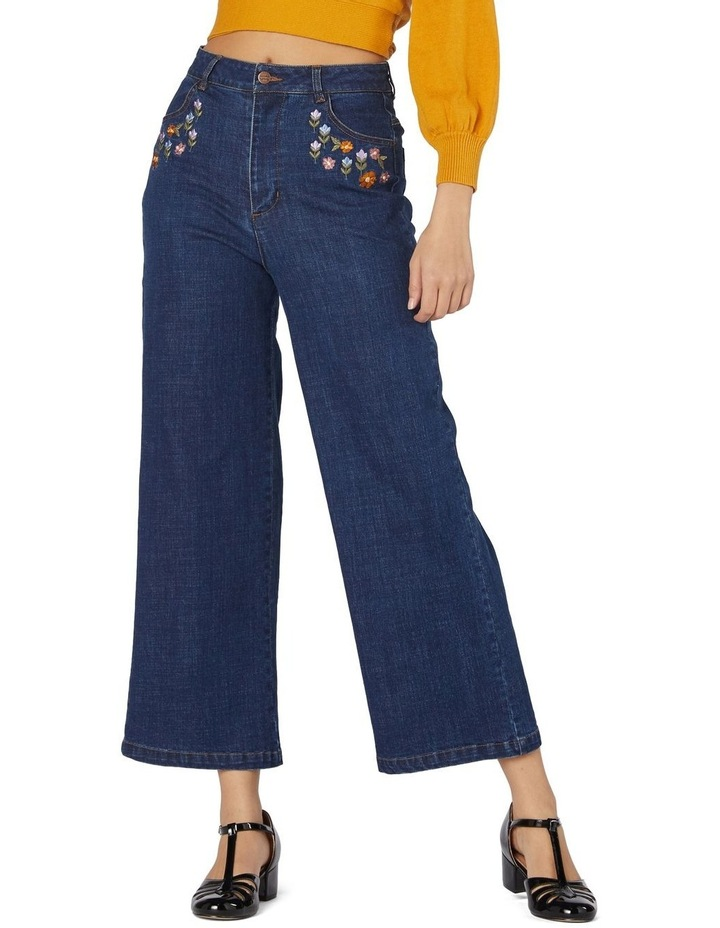 Floral Patchwork Embroidered Jeans image 1