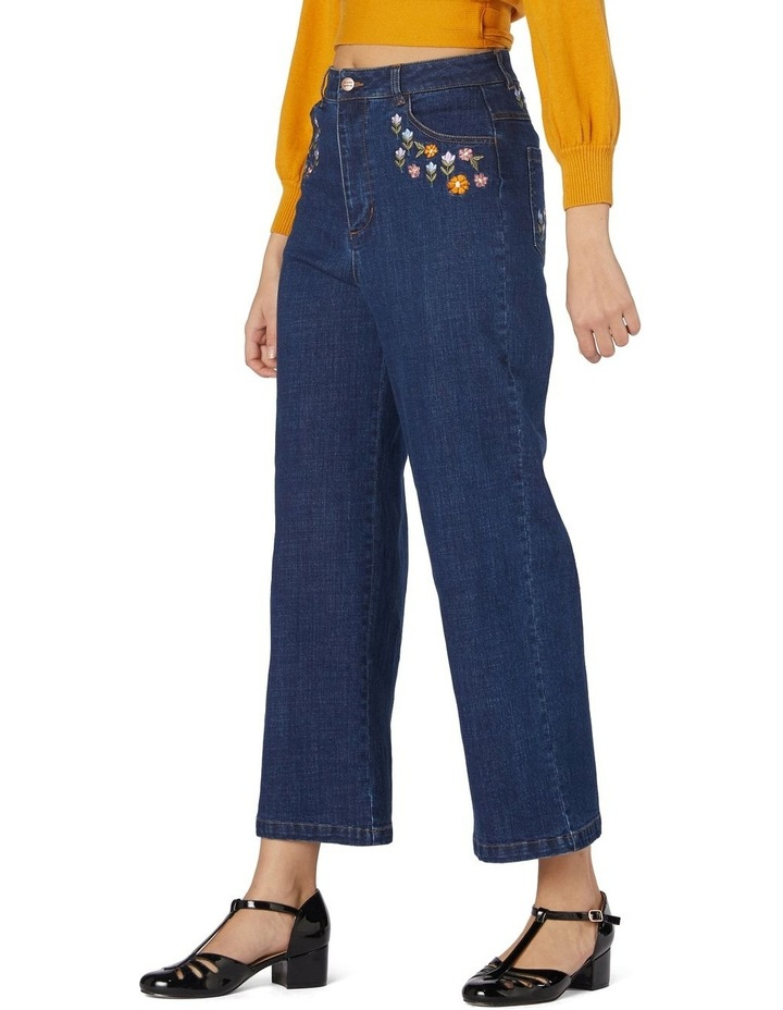 Floral Patchwork Embroidered Jeans image 2