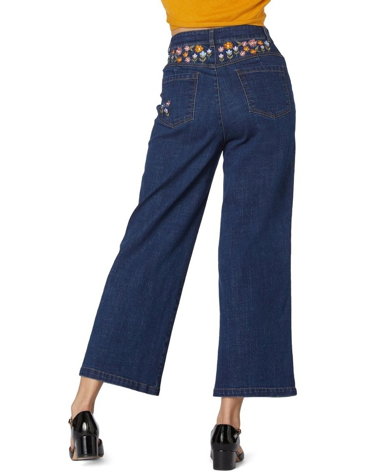 Floral Patchwork Embroidered Jeans image 3