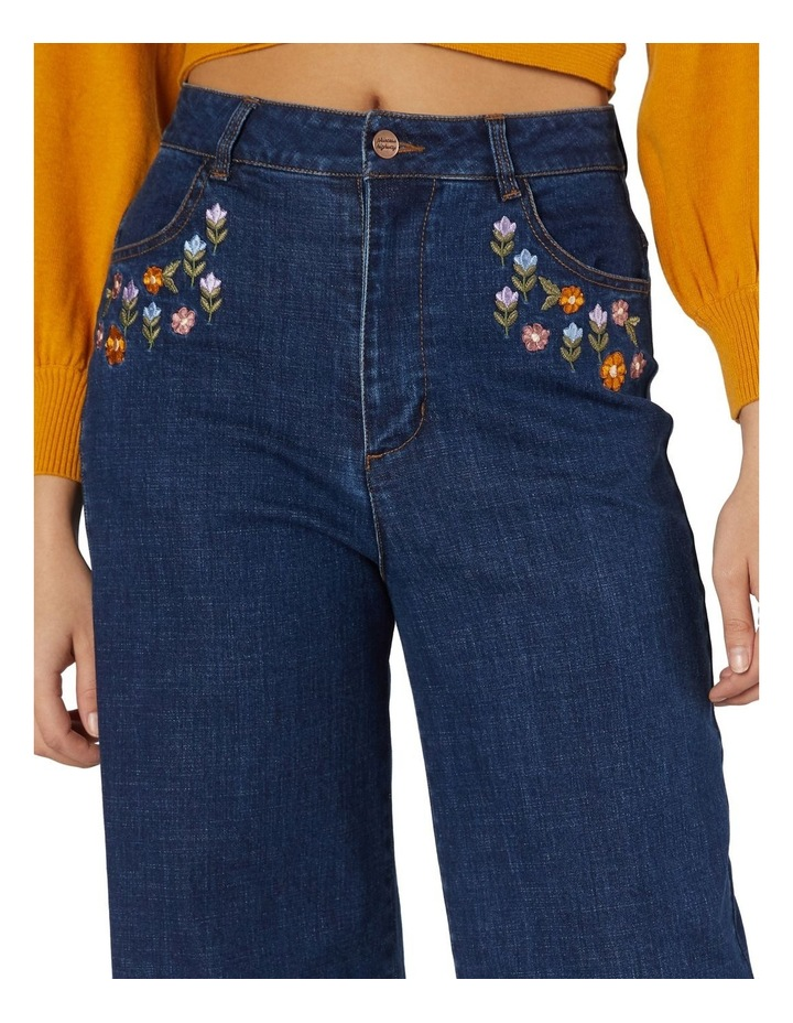 Floral Patchwork Embroidered Jeans image 4