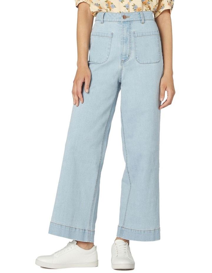 Elena In Spring High-Waisted Jeans Light Denim image 1