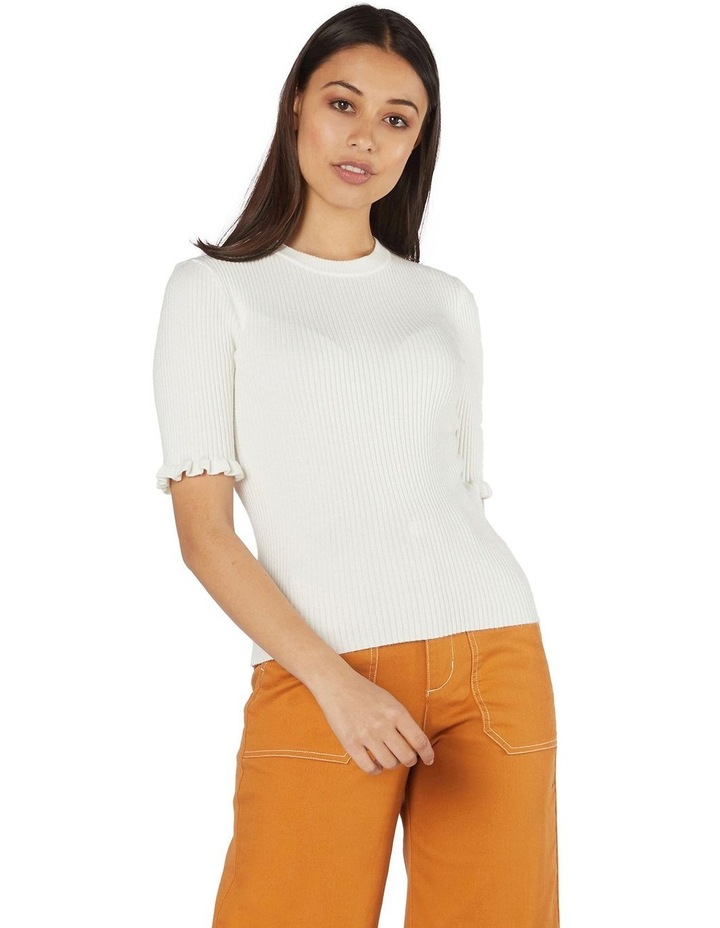 Lexie Knit Fitted Top White image 1