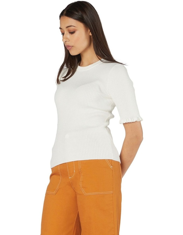 Lexie Knit Fitted Top White image 2