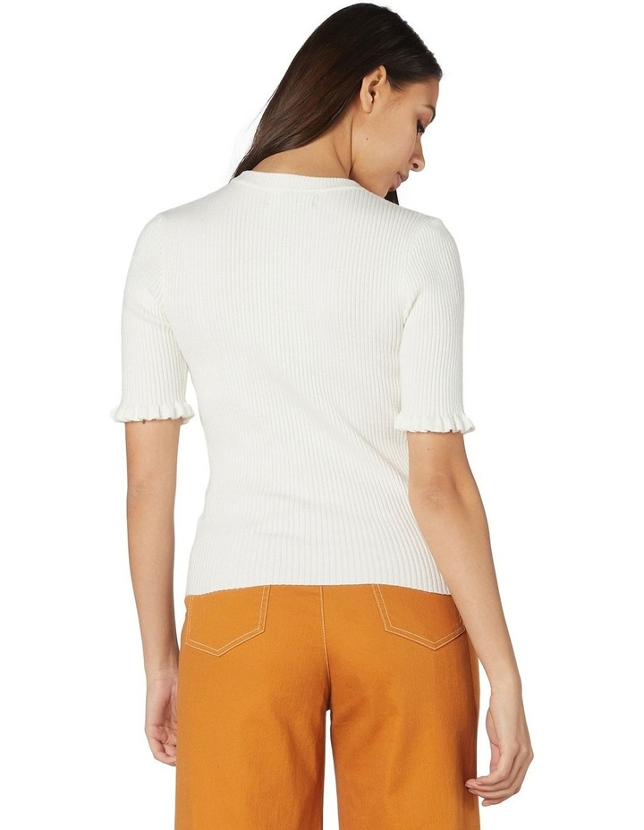 Lexie Knit Fitted Top White image 3