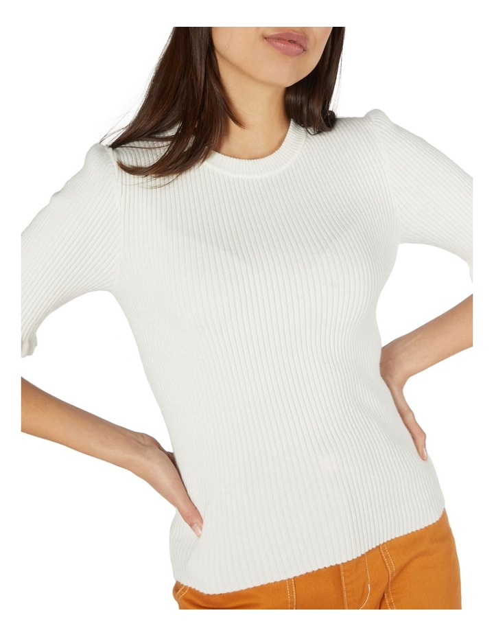 Lexie Knit Fitted Top White image 4