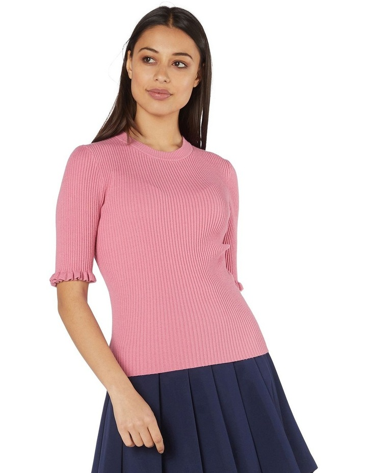 Lexie Knit Fitted Top Pink image 1