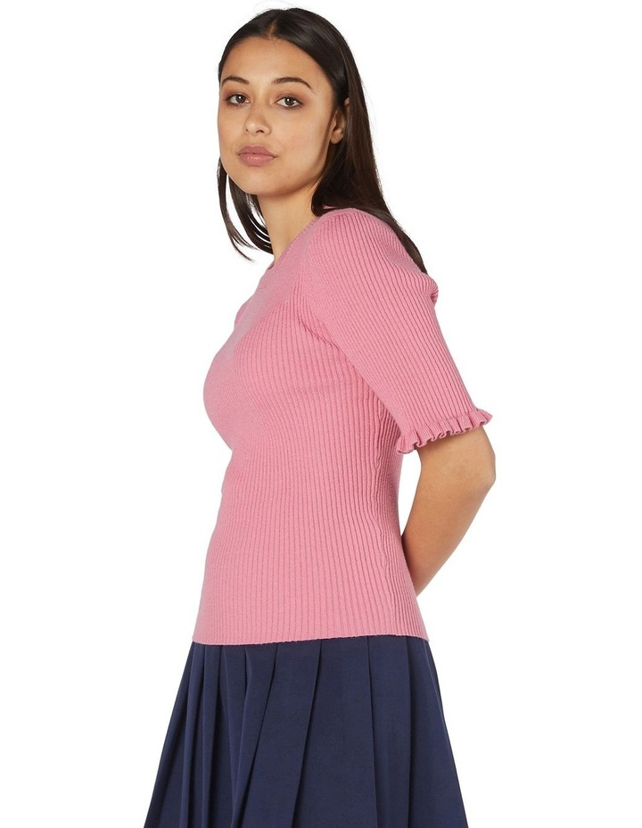 Lexie Knit Fitted Top Pink image 2