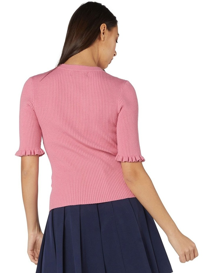 Lexie Knit Fitted Top Pink image 3