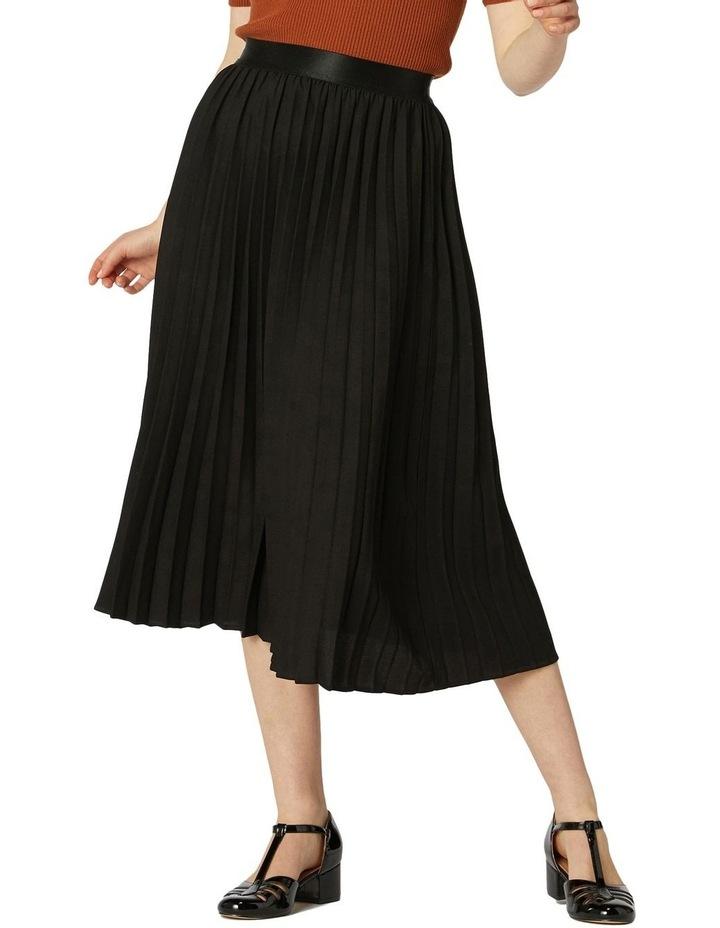 Violet Pleated Midi Skirt Black image 1