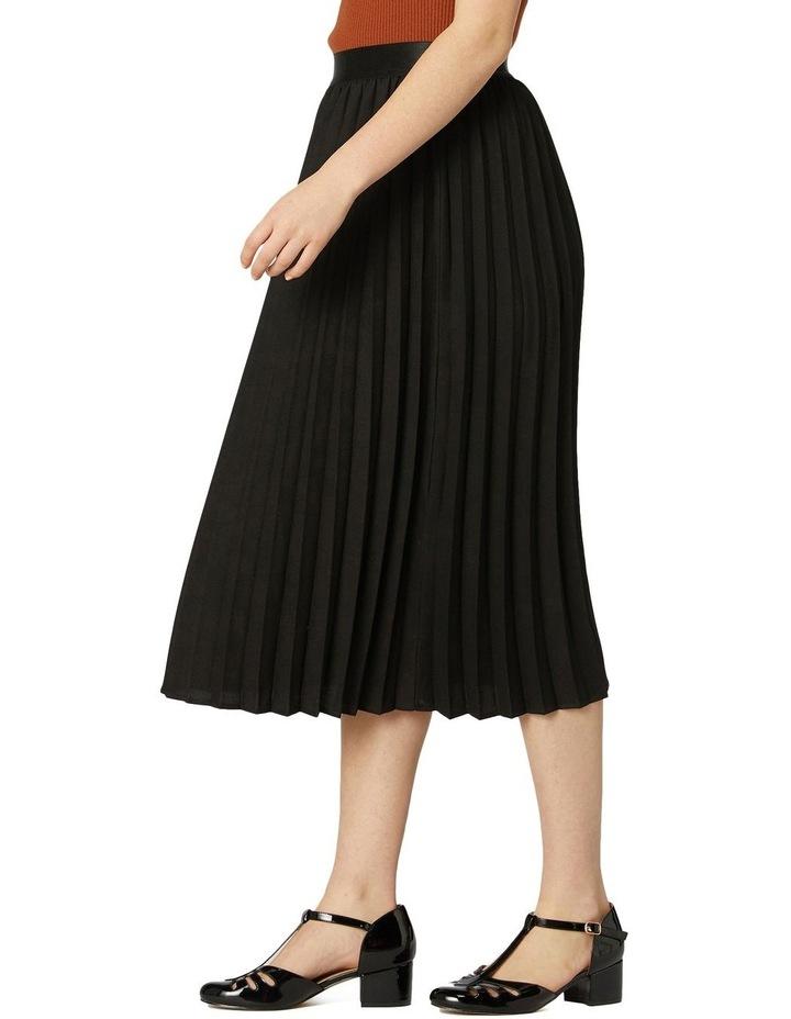 Violet Pleated Midi Skirt Black image 2