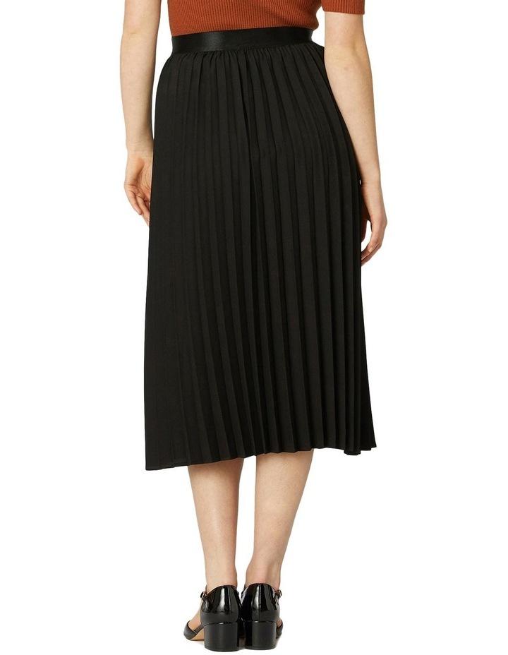Violet Pleated Midi Skirt Black image 3
