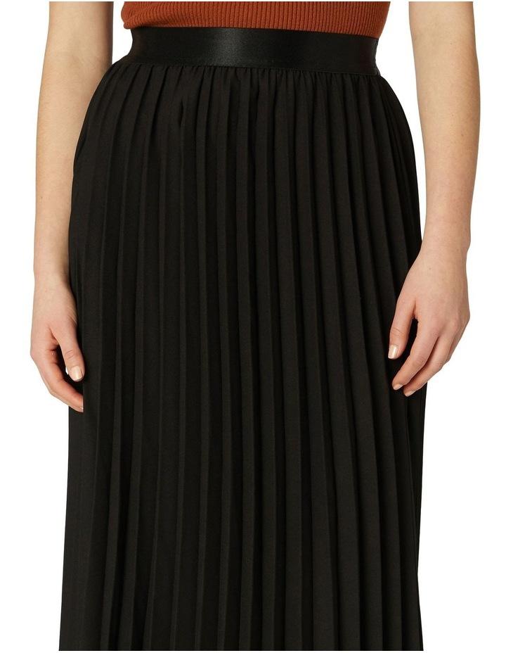Violet Pleated Midi Skirt Black image 4