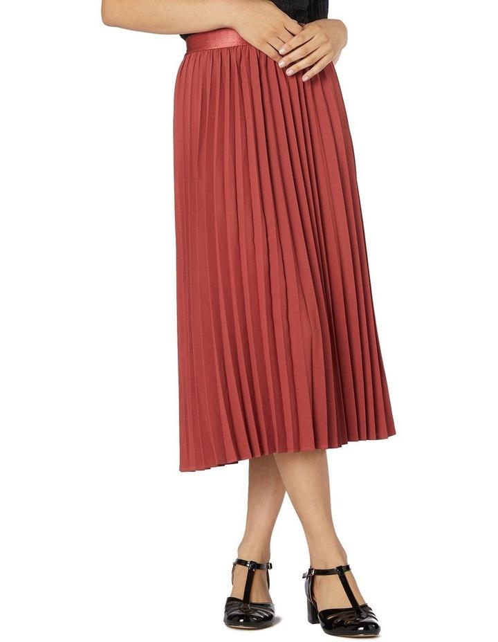 Violet Pleated Midi Skirt Rose image 1