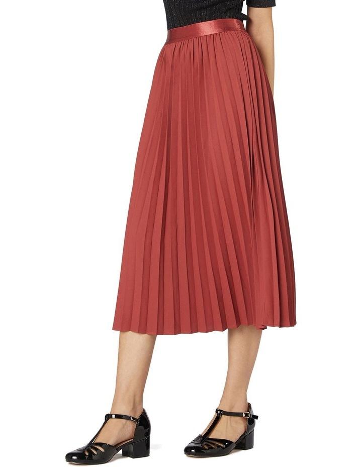 Violet Pleated Midi Skirt Rose image 2