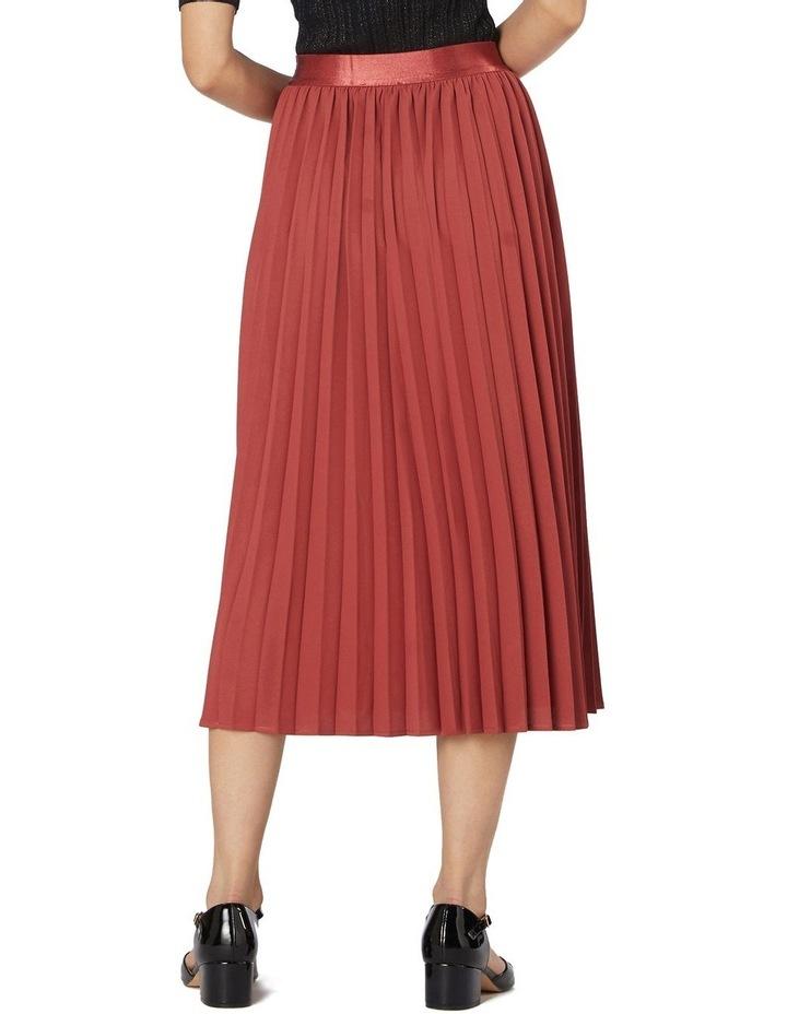 Violet Pleated Midi Skirt Rose image 3