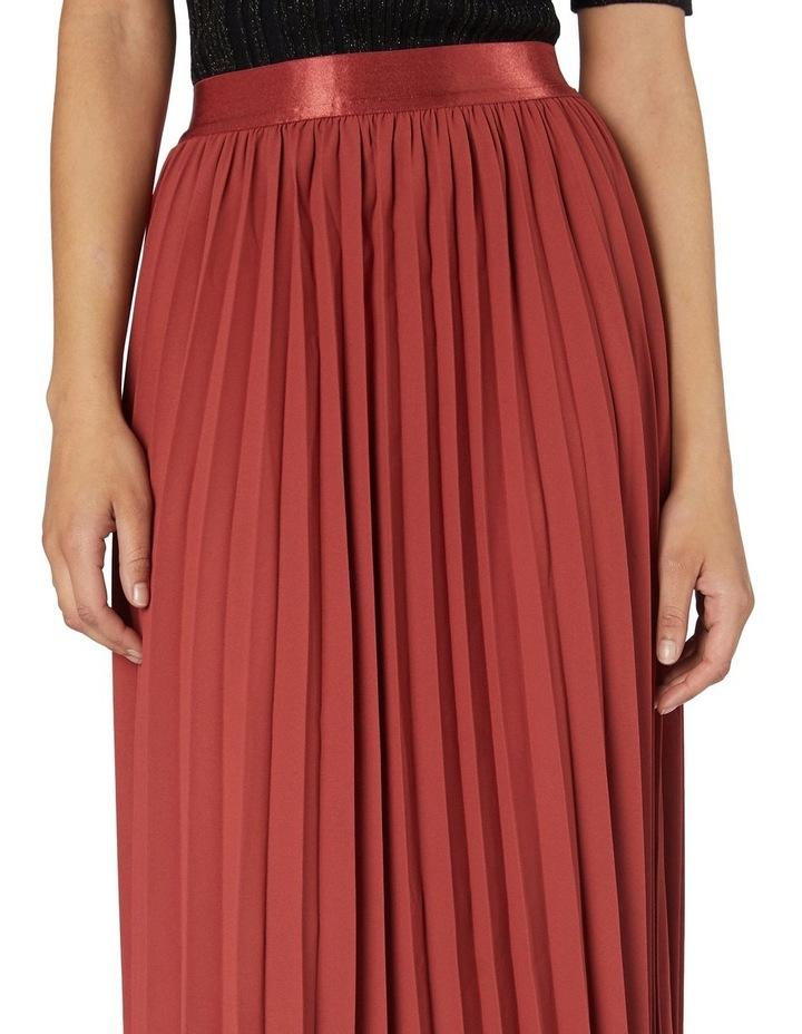 Violet Pleated Midi Skirt Rose image 4