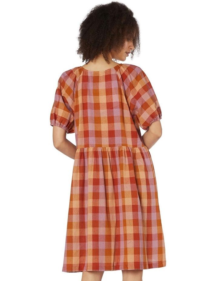 Prairie Check Smock Dress Orange image 3